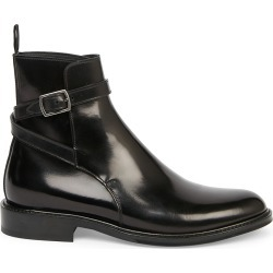 Saint Laurent Women's Army Buckle Leather Combat Boots - Nero - Size 10.5 found on Bargain Bro from Saks Fifth Avenue for USD $756.20