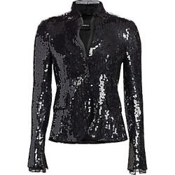 Akris Women's Sequin & Organza Short Jacket - Black - Size 2