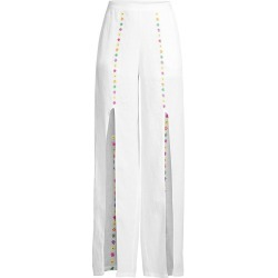 All Things Mochi Women's Gaho Flower Slit Linen Pants - White - Size XS found on MODAPINS from Saks Fifth Avenue for USD $111.74