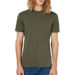T-shirt ajusté en jersey de couleur kaki
