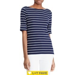 Striped Cotton Boatneck T-Shirt found on Bargain Bro India from Lord & Taylor for $35.00