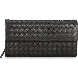 Bottega Veneta Women's Continental Leather Wallet - Nero found on MODAPINS from Saks Fifth Avenue for USD $800.00
