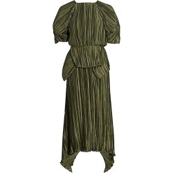 Cult Gaia Women's Nadira Pleated Puff Sleeve Maxi Dress - Cypress - Size XS found on MODAPINS from Saks Fifth Avenue for USD $331.20