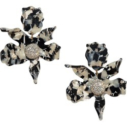 Lele Sadoughi Women's Crystal Lily Earrings - Noir found on Bargain Bro from Saks Fifth Avenue for USD $103.74