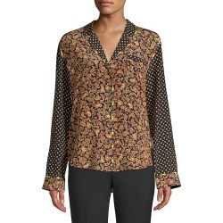 Opening Ceremony Women's Paisley Print Silk Blouse - Black - Size 2 found on MODAPINS from Saks Fifth Avenue OFF 5TH for USD $69.97