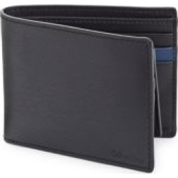 Bi-fold Removable Pass Case Leather Wallet