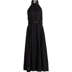 Zimmermann Women's Bonita Halterneck Linen Midi Dress - Black - Size 1 (4-6) found on Bargain Bro Philippines from Saks Fifth Avenue for $595.00