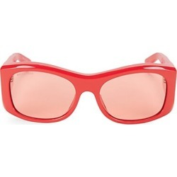 Balenciaga Women's 59MM Acetate Modified Square Sunglasses - Red found on MODAPINS from Saks Fifth Avenue for USD $685.00