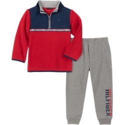 Ensemble chandail et pantalon en mélange de coton molletonné pour bébé garçon, 2 pièces