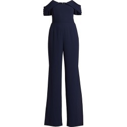 ML Monique Lhuillier Women's Crepe Off-The-Shoulder Jumpsuit - Navy - Size 12 found on MODAPINS from Saks Fifth Avenue for USD $122.76