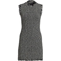 Alexander McQueen Women's Tweed Pencil Mini Dress - Black Ivory Nacre - Size 36 (0) found on MODAPINS from Saks Fifth Avenue for USD $2375.00