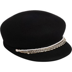 Sabrina Embellished Chain-Trimmed Wool Newsboy Cap found on Bargain Bro UK from Saks Fifth Avenue UK
