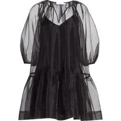 Jonathan Simkhai Women's Everlee Organza Puff-Sleeve Mini Dress - Black - Size Medium found on MODAPINS from Saks Fifth Avenue for USD $365.00