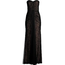 Aidan Mattox Women's Strapless Long Drape Dress - Black Nude - Size 12 found on MODAPINS from Saks Fifth Avenue for USD $365.00