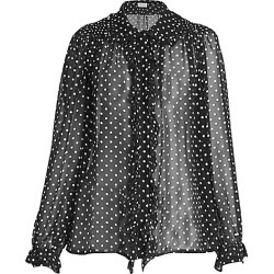 Dries Van Noten Women's Beaded Silk Polka Dot Blouse - Black - Size 36 (4-6) found on Bargain Bro Philippines from Saks Fifth Avenue for $1420.00