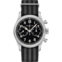 Montblanc Men's 1858 Stainless Steel & Nato Strap Automatic Chronograph Watch - Stainless Steel