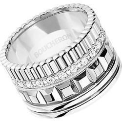 Boucheron Women's Quatre Classique 18K White Gold & Diamond Wedding Ring - Diamond White Gold - Size 5.5 found on MODAPINS from Saks Fifth Avenue for USD $11650.00
