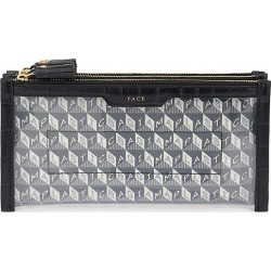 Anya Hindmarch Women's I Am A Plastic Bag Mini Filing Leather-Trim Cabinet Makeup Bag - Charcoal found on MODAPINS from Saks Fifth Avenue for USD $395.00