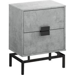 Table d'appoint grise et noire, 61 cm