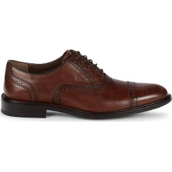 Johnston & Murphy Men's Daley Leather Cap Toe Oxfords - Tan - Size 11 found on Bargain Bro from Saks Fifth Avenue OFF 5TH for USD $53.19