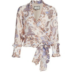 Alexis Women's Marceau Paisley Wrap Top - Cerulean Garden - Size Small found on MODAPINS from Saks Fifth Avenue for USD $198.00