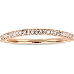 14K Rose Gold & Diamond Wedding Ring found on MODAPINS from Saks Fifth Avenue OFF 5TH for USD $388.00
