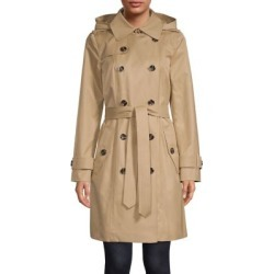 Double-Breasted Cotton-Blend Hooded Trench Coat found on Bargain Bro Philippines from The Bay for $87.96