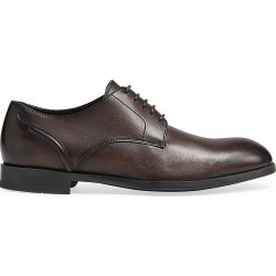 Ermenegildo Zegna Men's Siena Flex Leather Derby Shoes - Brown - Size 12 found on MODAPINS from Saks Fifth Avenue for USD $625.00
