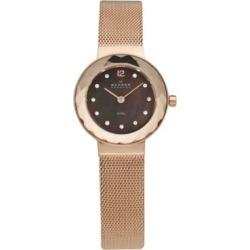 Montre pour femmes avec bracelet À mailles serrées en or rose et cadran brun found on Bargain Bro Philippines from La Baie for $138.99