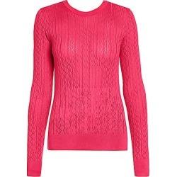 Dolce & Gabbana Women's Fitted Silk Knit Top - Dark Pink - Size 46 (10)