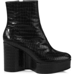Bliss 4 Croc-Embossed Leather Platform Wedge Boots found on MODAPINS from Saks Fifth Avenue AU for USD $800.33