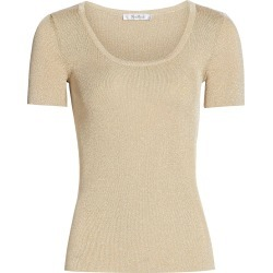 Max Mara Women's Crewneck Lurex Top - Light Gold - Size Small found on Bargain Bro from Saks Fifth Avenue for USD $437.00