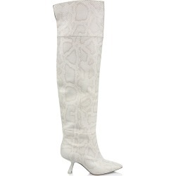 Nicholas Kirkwood Women's Lexi Over-The-Knee Snakeskin-Embossed Leather Boots - Washed - Size 5.5 found on MODAPINS from Saks Fifth Avenue for USD $345.95