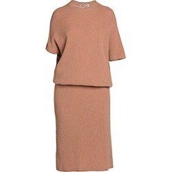 Agnona Women's Cashmere Pearl Ribbed Dolman Knit Sweaterdress - Blush Nude - Size Large found on MODAPINS from Saks Fifth Avenue for USD $2590.00