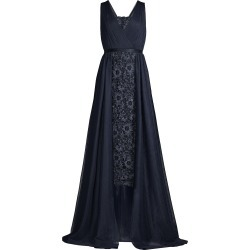 Aidan Mattox Women's Lace Drape Overlay Midi Dress - Twilight - Size 12 found on MODAPINS from Saks Fifth Avenue for USD $440.00