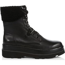 Ash Women's Siberia Faux Fur-Lined Leather Combat Boots - Black - Size 35 (5) found on MODAPINS from Saks Fifth Avenue for USD $95.47