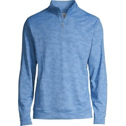 Peter Millar Men's Camo Performance Jacquard Quarter-Zip Top - Blue Sea - Size Small found on Bargain Bro from Saks Fifth Avenue for USD $95.00
