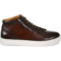 COLLECTION BY MAGNANNI Burnished Leather Lace-Up High-Top Sneakers found on Bargain Bro from Saks Fifth Avenue UK for £148