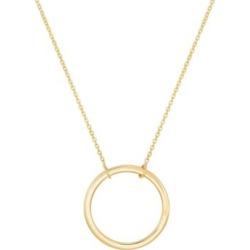 Collier à pendentif circulaire en or 10 ct