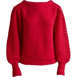 Merlette Women's Somerset Puff-Sleeve Sweater - Rouge - Size Small found on MODAPINS from Saks Fifth Avenue for USD $119.04