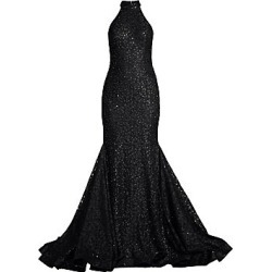 Jovani Women's Halter Sequin Mermaid Dress - Black - Size 4 found on Bargain Bro India from Saks Fifth Avenue for $550.00