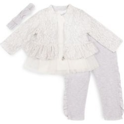 Baby Girl's 4-Piece Cotton-Blend Baby Gift Set