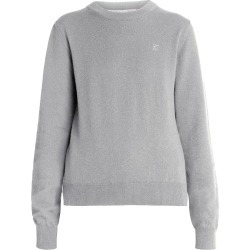 Maison Margiela Women's Logo Elbow-Patch Crewneck Wool Sweater - Medium Gray - Size XS found on MODAPINS from Saks Fifth Avenue for USD $555.00