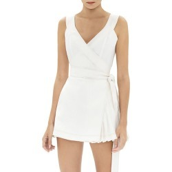 Alexis Women's Catia Pleated Wrap Romper - Off White - Size Small found on MODAPINS from Saks Fifth Avenue for USD $495.00