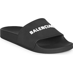 Balenciaga Women's Embossed Logo Pool Slides - Black - Size 37 (7) Sandals found on MODAPINS from Saks Fifth Avenue for USD $275.00
