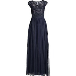 Aidan Mattox Women's Beaded Bodice Cap-Sleeve Gown - Twilight - Size 14 found on MODAPINS from Saks Fifth Avenue for USD $237.00