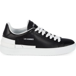 Les Hommes Men's Leather Low-Top Sneakers - Black - Size 8.5 found on MODAPINS from Saks Fifth Avenue OFF 5TH for USD $159.99