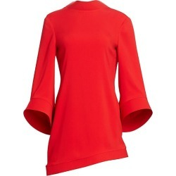 Brandon Maxwell Women's Bell Sleeve Asymmetric Shift Dress - Poppy - Size 4 found on MODAPINS from Saks Fifth Avenue for USD $717.75
