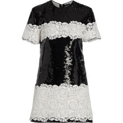Giambattista Valli Women's Sequin & Lace Shift Dress - Black Ivory - Size 10 found on MODAPINS from Saks Fifth Avenue for USD $3840.00