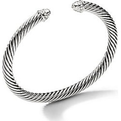 David Yurman Women's Cable Classics Bracelet with Diamonds - Gold - Size M found on Bargain Bro India from Saks Fifth Avenue for $850.00